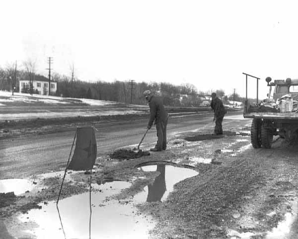 Pothole in 1951