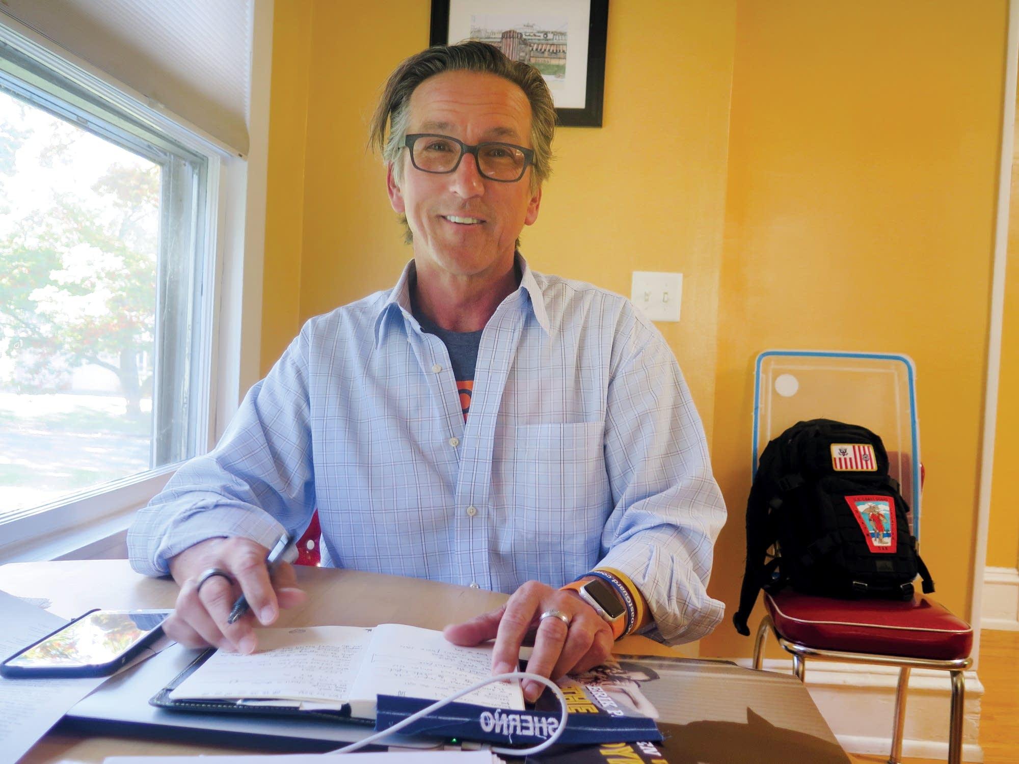 Former TV news broadcaster Tim Sherno