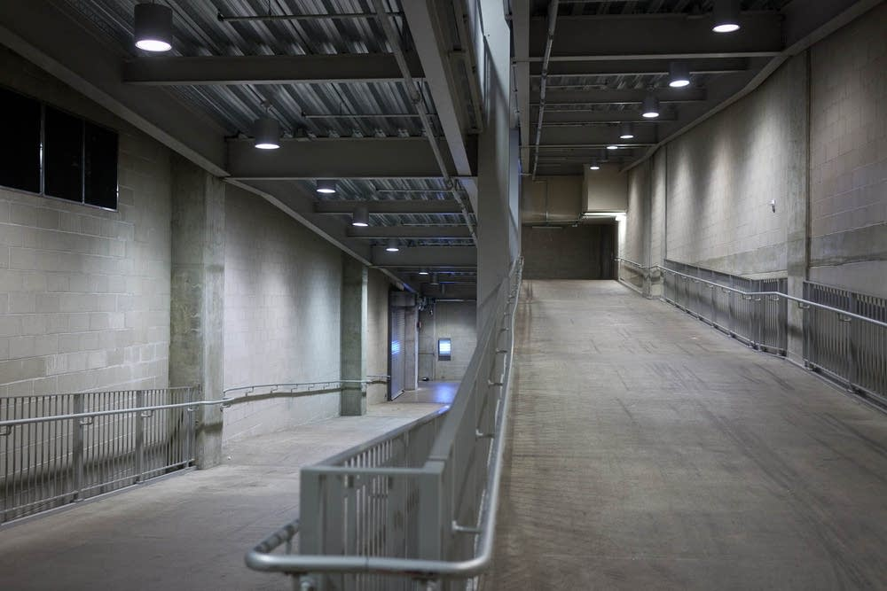 Target Field shelter area