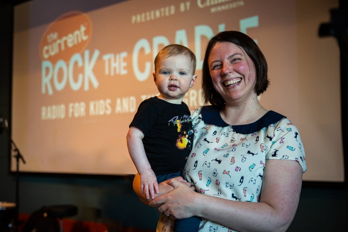 Andrea Swensson and her daughter at Rock the Cradle 2020.