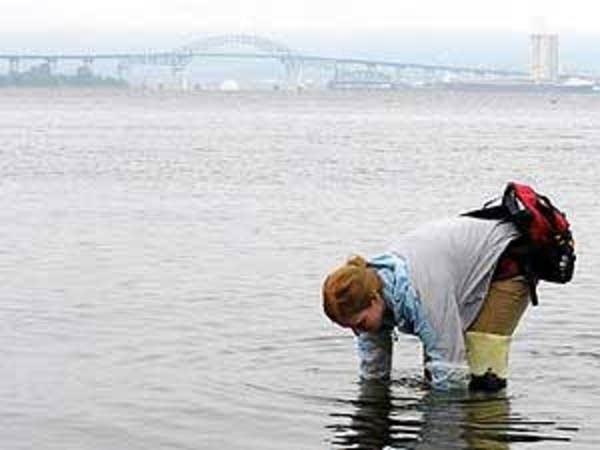 Getting water samples