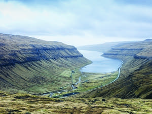 A fjord on Faroe Islands