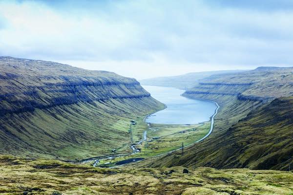 A fjord on Faroe Islands
