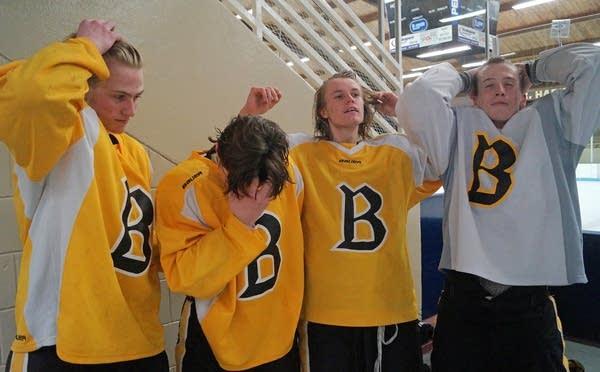 The captains of the Burnsville hockey team
