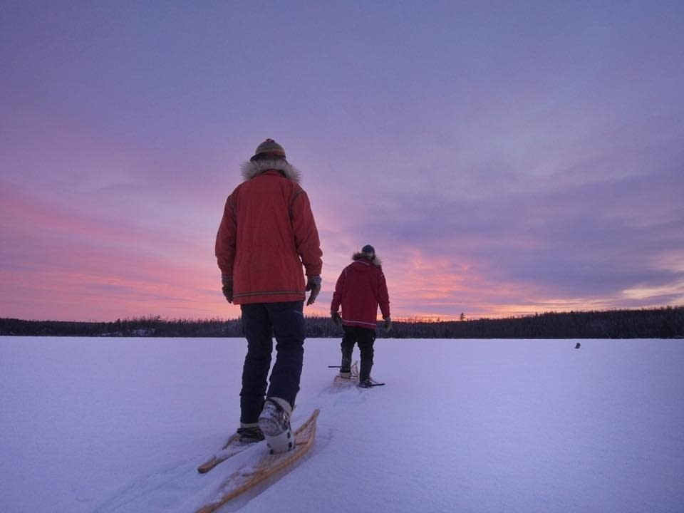 Sunset across Basswood Lake