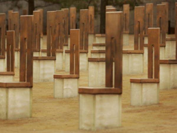Memorial to victims of Oklahoma City bombing