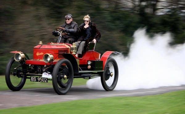 Steam powered vintage Stanley constructed in 1908