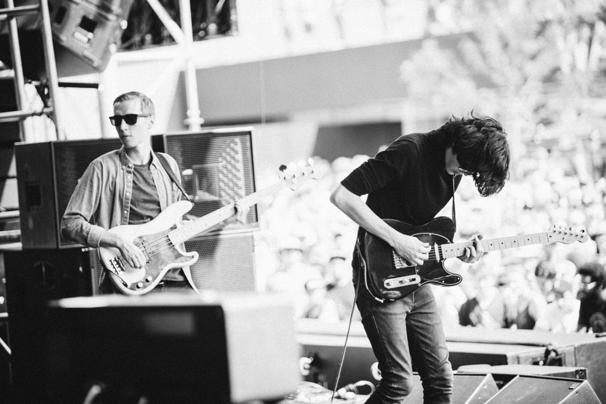 Car Seat Headrest perform on the main stage.