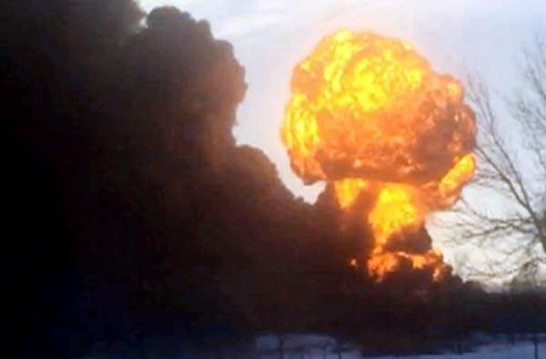 Fireball erupts