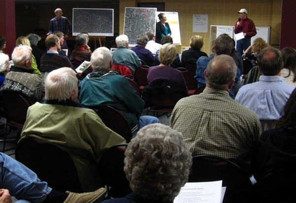Meeting about sand fracking