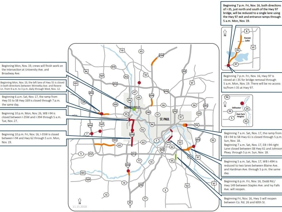 I-35W closure tops Twin Cities weekend road woes | MPR News