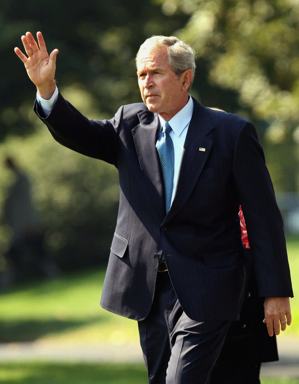 President Bush departs the White House