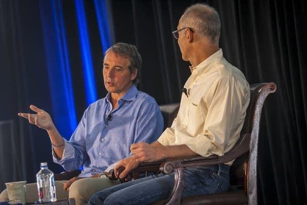 Dan Buettner (left) and Ezekiel Emanuel