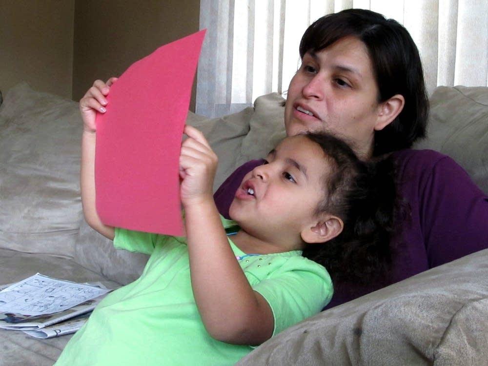 Sylvia Hernandez Cruz and daughter