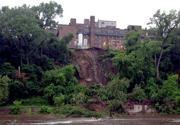 Mudslide below U of M Medical Center