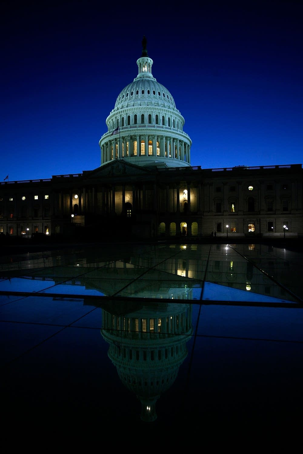 The U.S. Capitol is seen in the evening hours