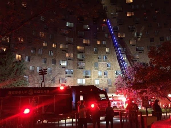 St. Paul high rise fire forced evacuation