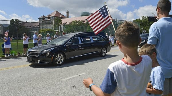 Procession for John McCain