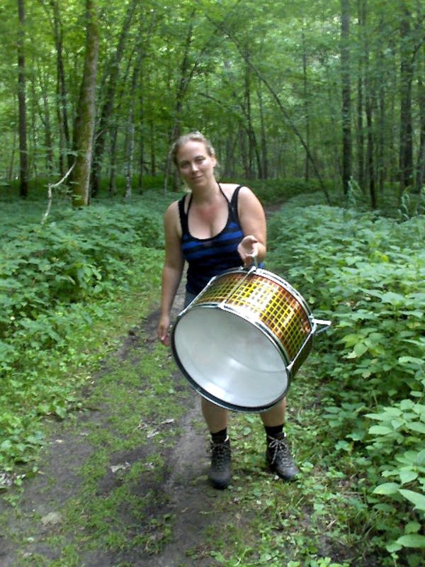 Musician in Whitewater State Park