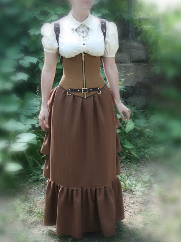 Waterfall skirt, front view