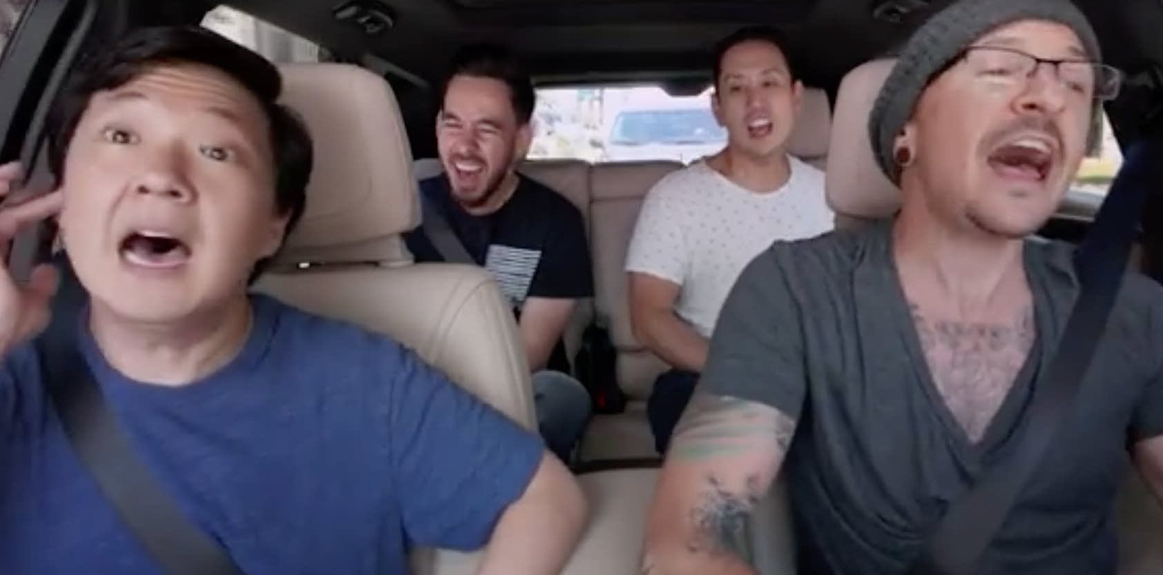Linkin Park sing 'Carpool Karaoke' with Ken Jeong.