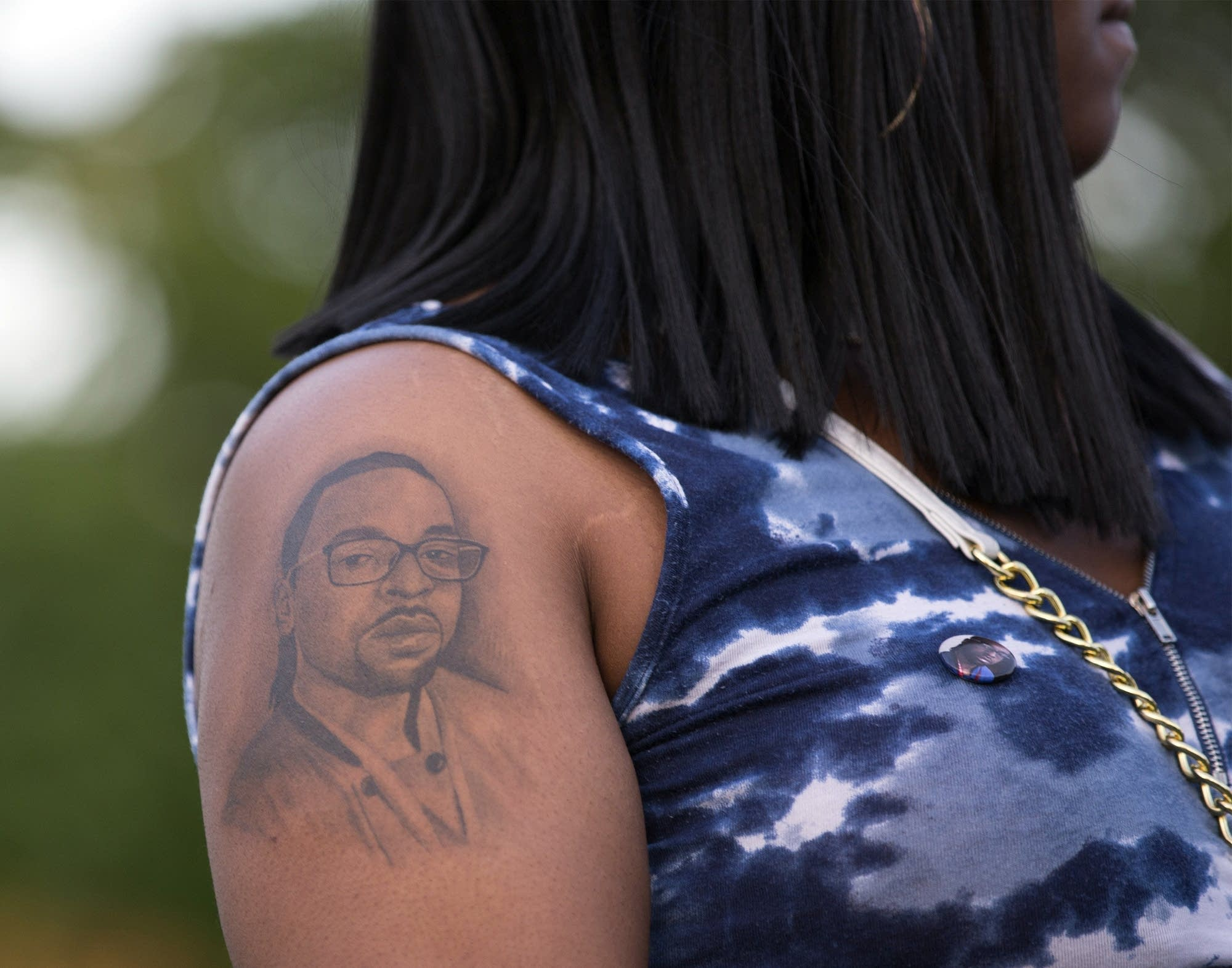 Philando Castile's sister Allysza has a tattoo of her brother on her arm.