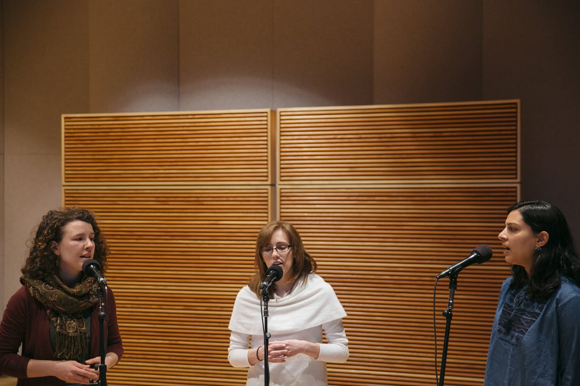 The Nightingale Trio performs in Studio M
