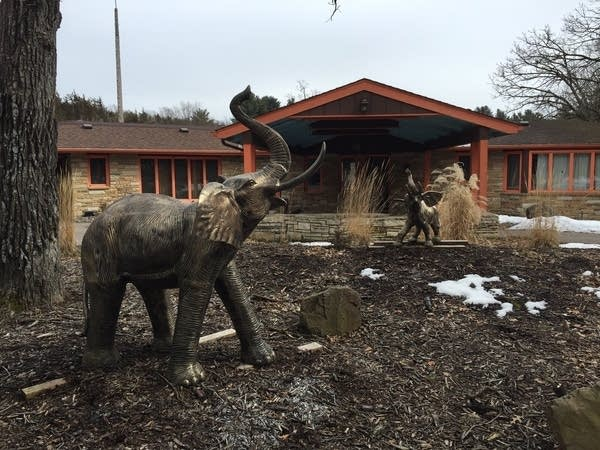Elephant statues at Pachyderm outside Cannon Falls.