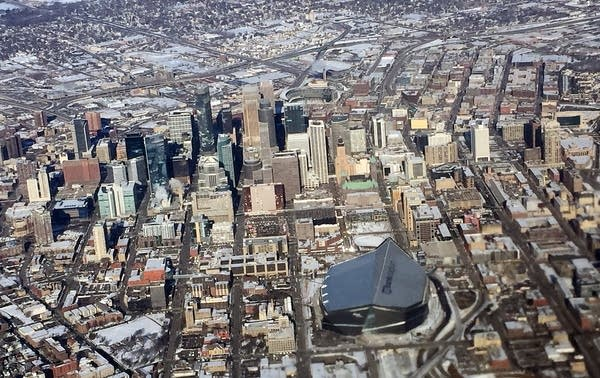 Downtown Minneapolis from the air