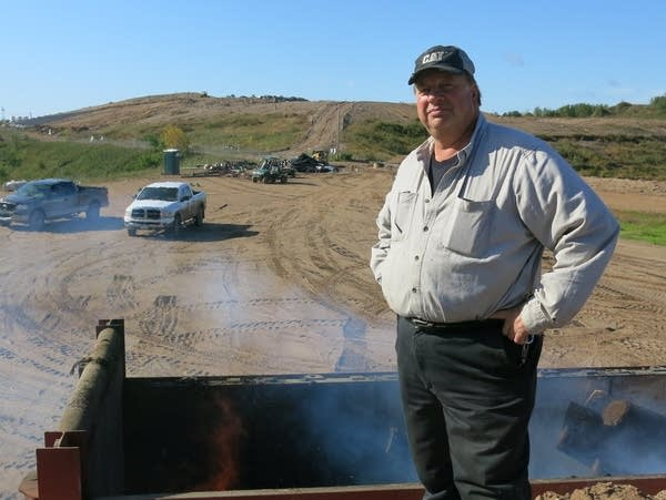 Marv Stroschein manages the Crow Wing County landfill.