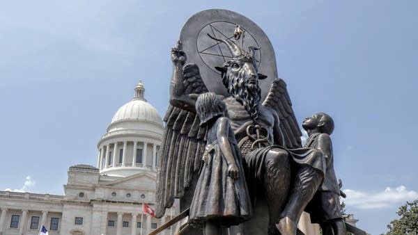 A Satanic statue from