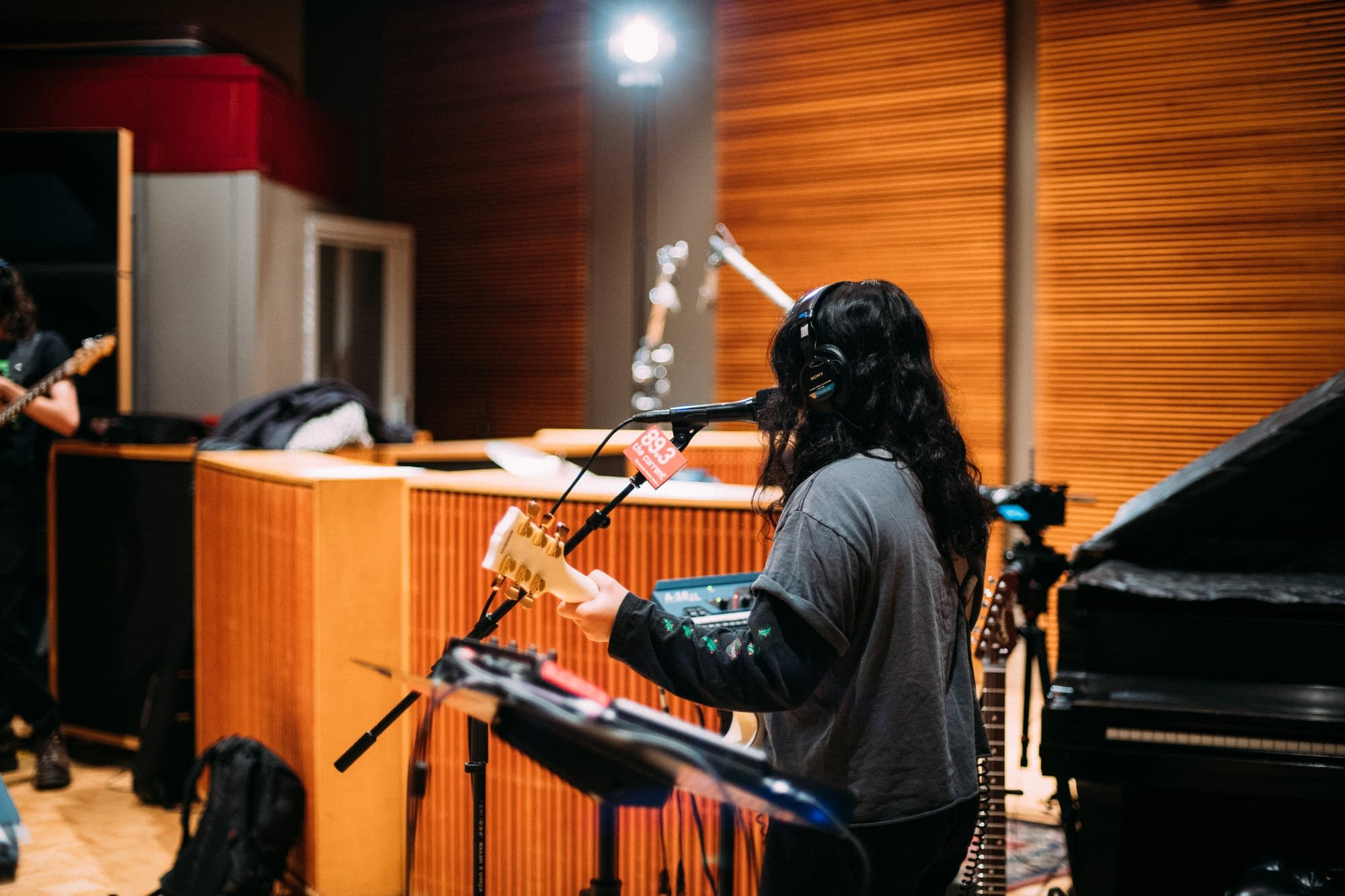 Jay Som performs in The Current studio