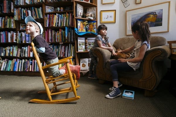 Kids play with cats inside Wild Rumpus.