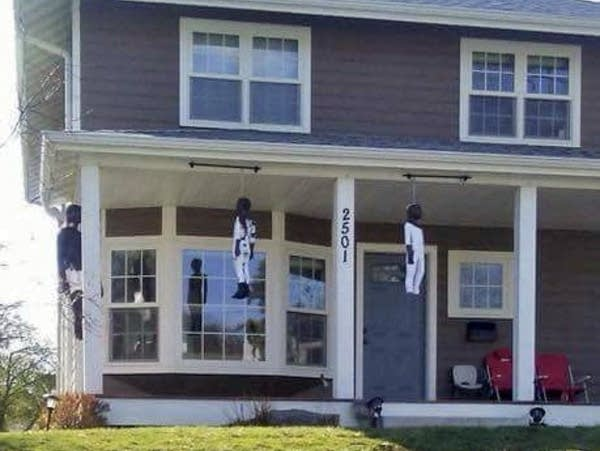 A photo of pinatas hanging on a house in Mpls. set off a storm on Facebook.
