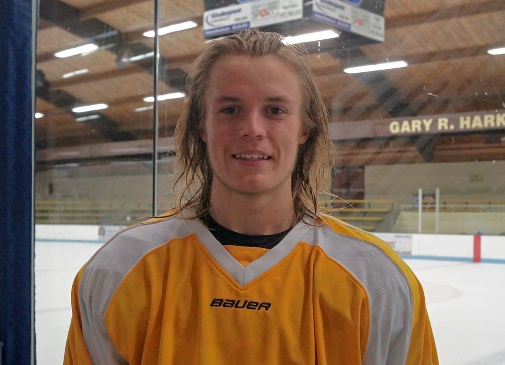 Burnsville hockey team captain Nolan Sawchuk