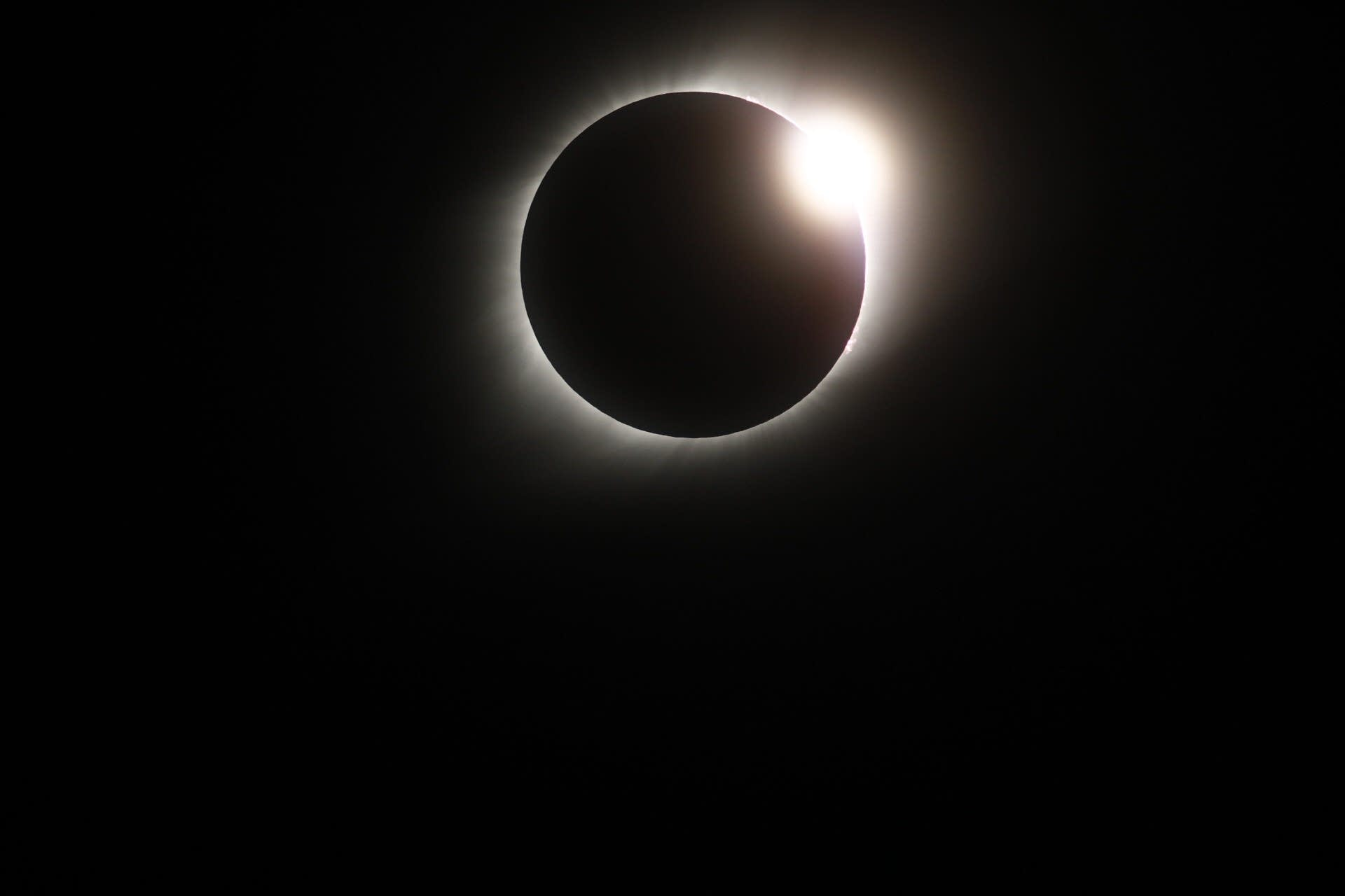 A view of the eclipse from near Pawnee City, Nebraska.
