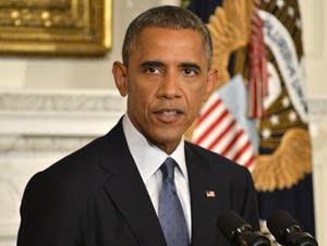 President Obama Delivers Statement On Humanitarian