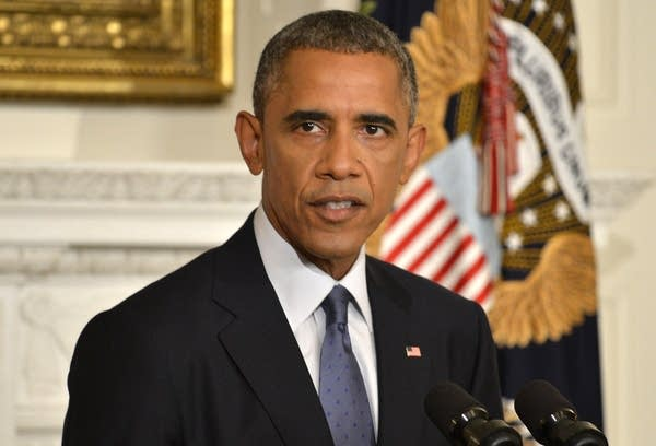 President Obama Delivers Statement On Humanitarian