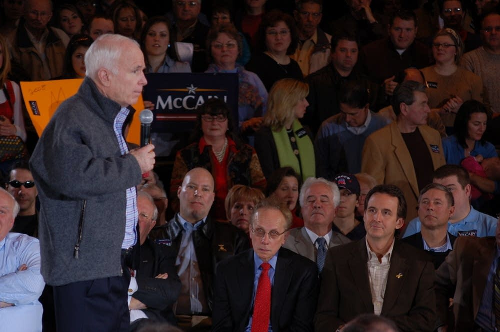 John McCain speaks at a campaign event