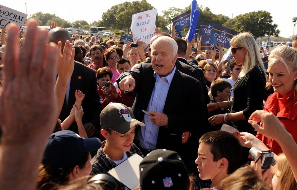 John McCain campaigns across Florida