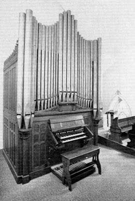 1909 Hinners organ at Saint Martin's Church, Martinsville, WI