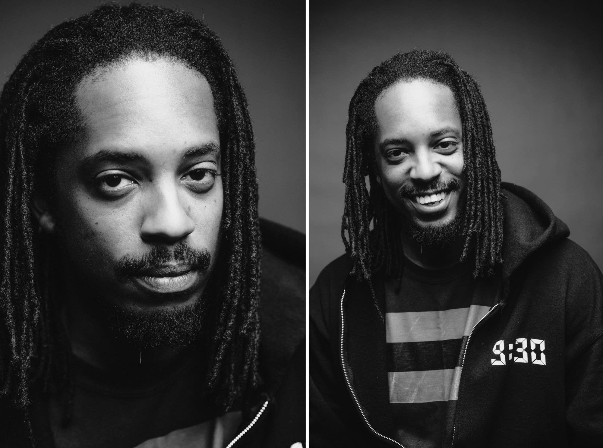Black Joe Lewis portraits taken just outside The Current studio