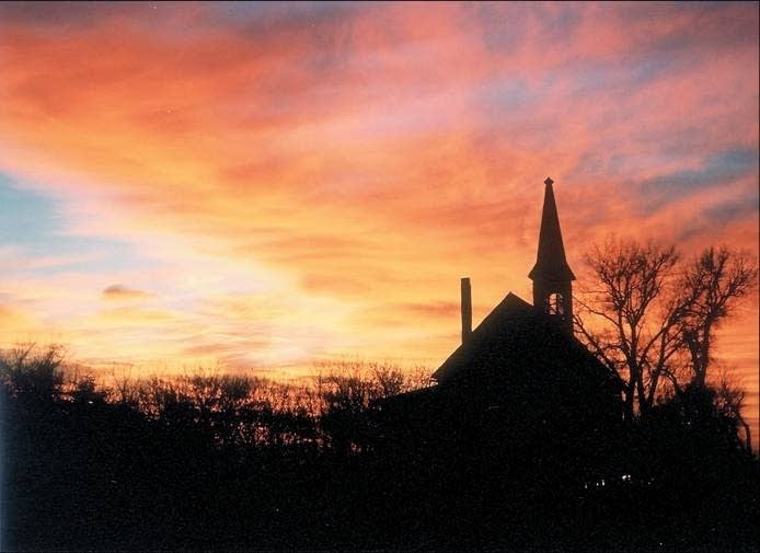 Image result for sunset old church