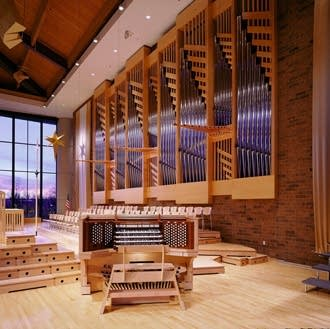 1927 Casavant–2001 Schantz pipe organ at St. Andrew's Lutheran Church, Mahtomedi, MN.