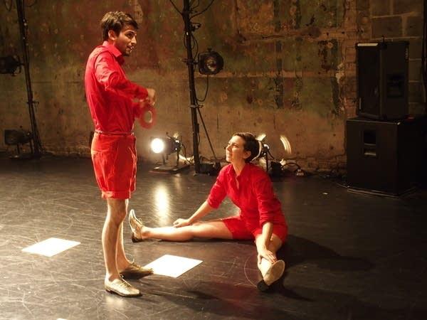 Dancers Gaylen Higgins and Kaleena Miller