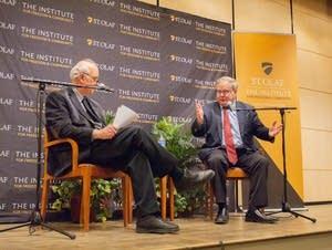 Edmund Santurri (left) and Michael Lind (right)