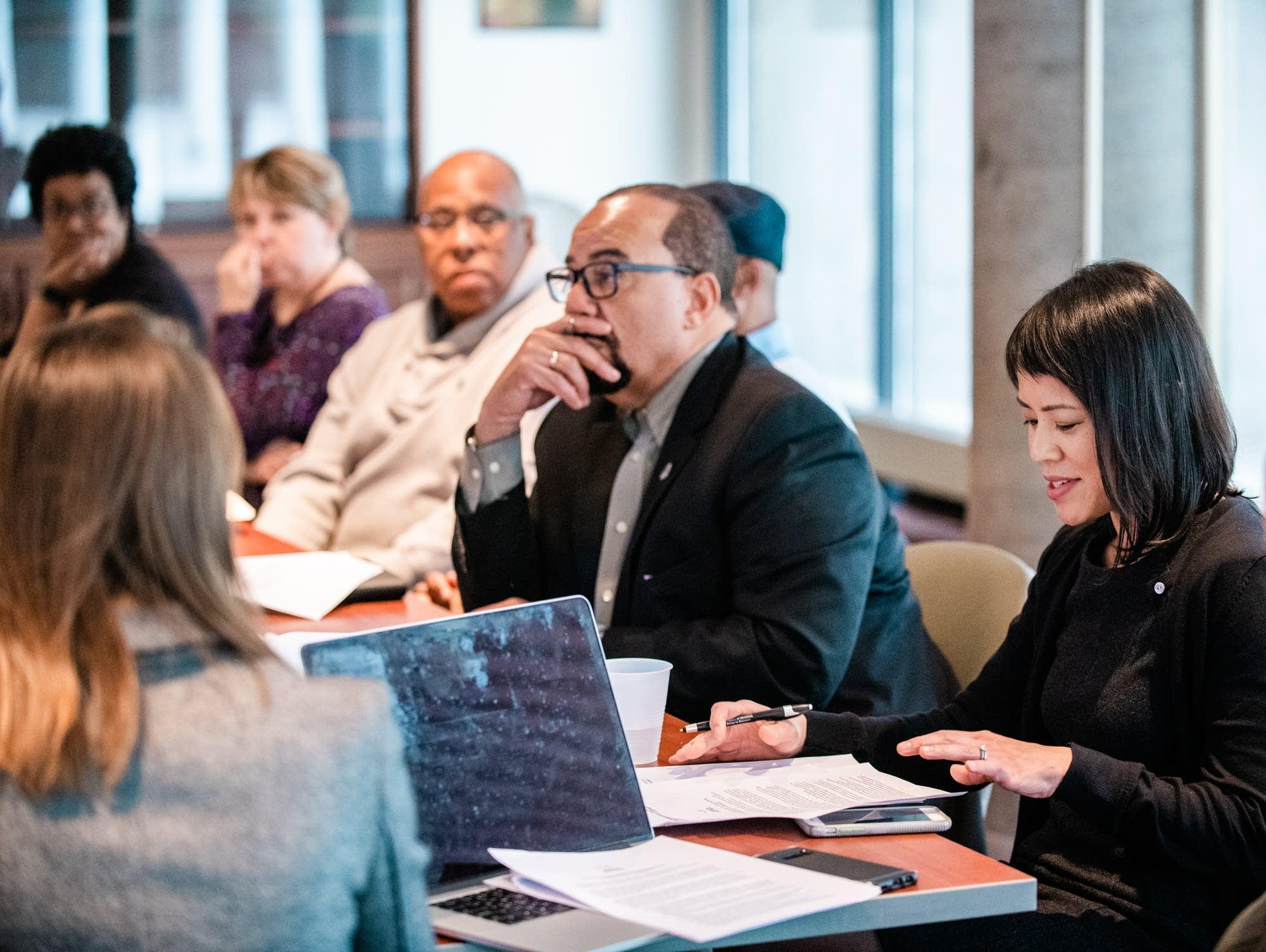 A coalition of media members discuss how to transform racial narratives.