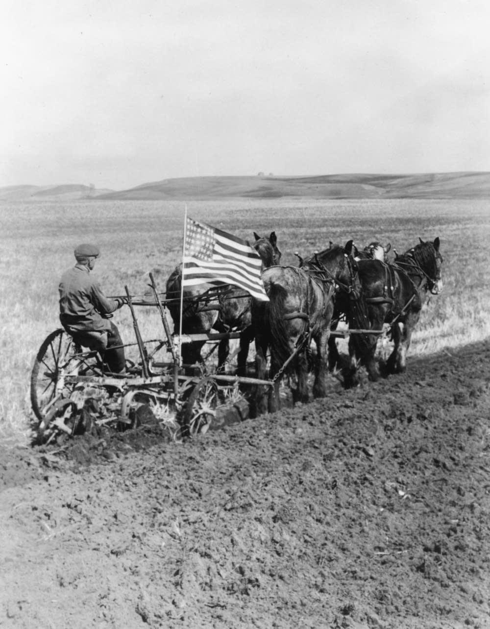 Patriotic farmer, 1910s