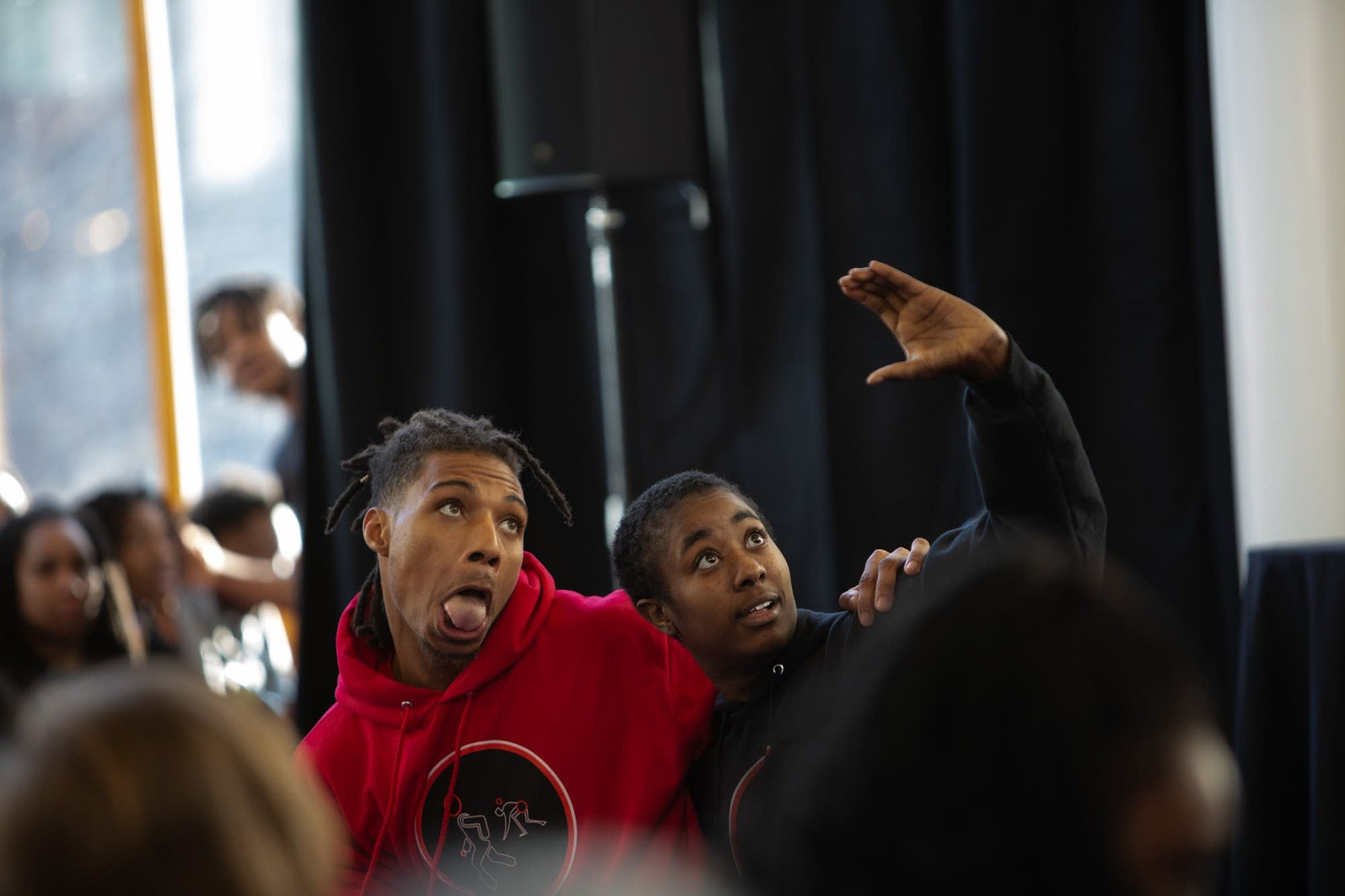 Darrius Strong and Gabby the Baddie perform during the MLK event.