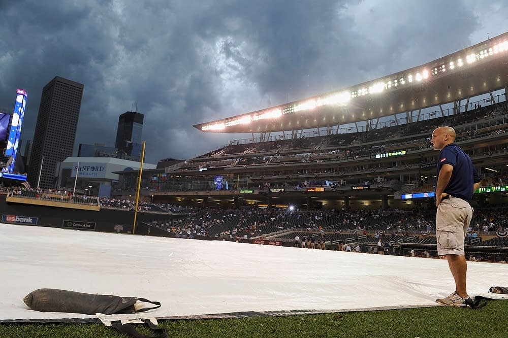 Stormy night at Target Field